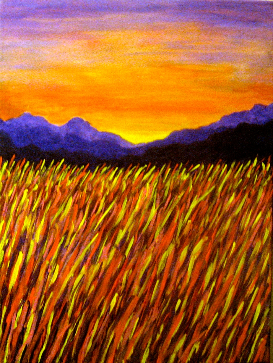 """Sunset on Purple Mountain Plains"""