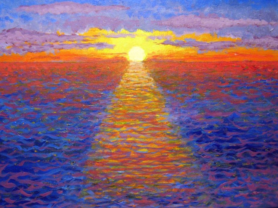 """Blazing Ocean Sunset"""