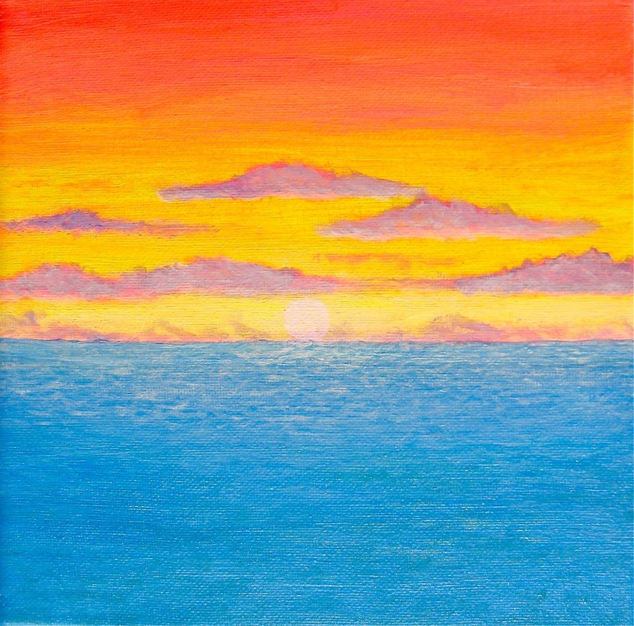 """Sunset on the Open Sea"""