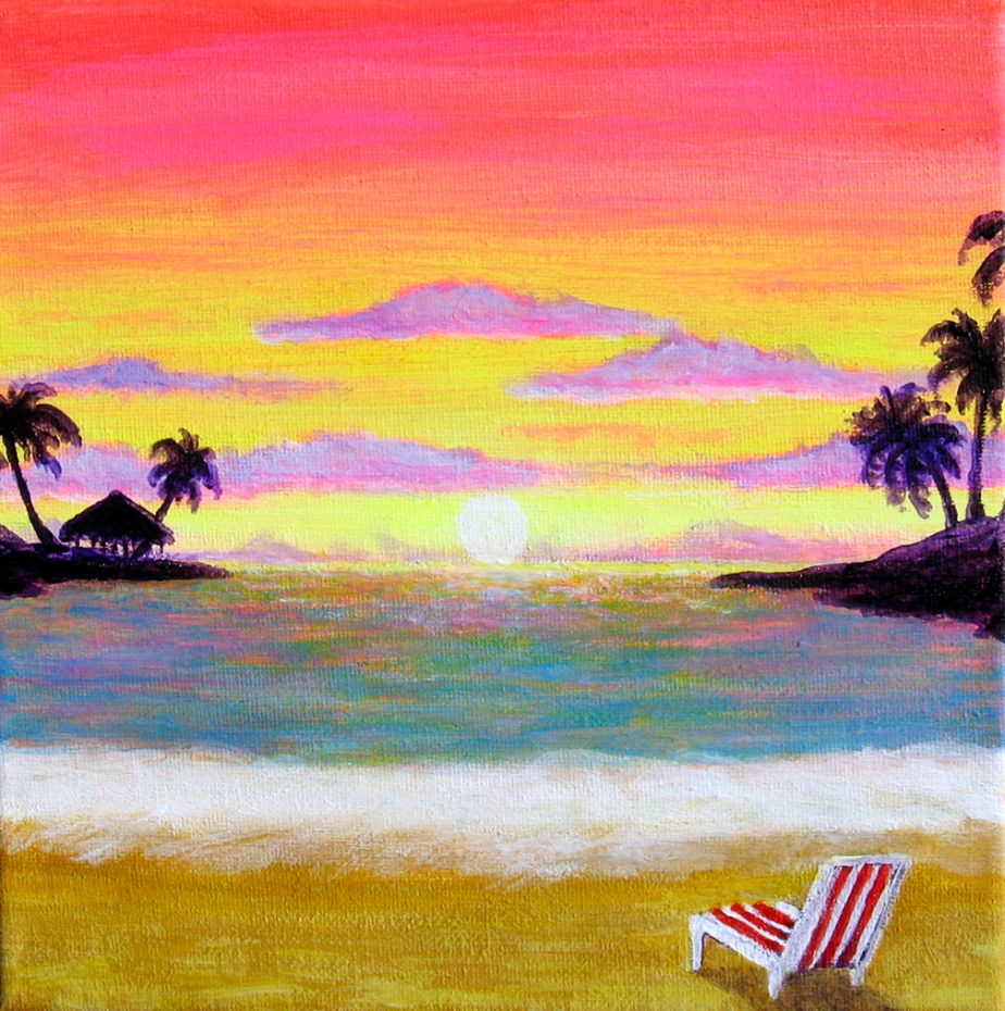 """Beach Chair Sunset"""